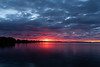 Wide view of the Bay of Quinte before sunrise HDR sequence shot light