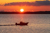 Fishing boat on the Bay of Quinte at sunrise 2020 November 29