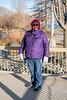 Denise Lantz by Turtle Pond 2020 December 2. Zero degrees C.