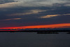 South shore of the Bay of Quinte before sunrise. Orange and purple skies below the clouds