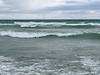 Lake Ontario waves at Rotary Beach in Wellington on a windy day 2021 April 30.