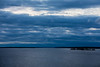 Looking down the Bay of Quinte before sunrise on a cloudy morning 2021 April 20.