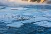 Ice in the Moira River below the Lott Dam