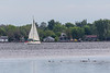 Sailboat along the south shore of the Bay of Quinte 2021 June 30