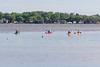 Kayakers on the Bay of Quinte 2021 June 3