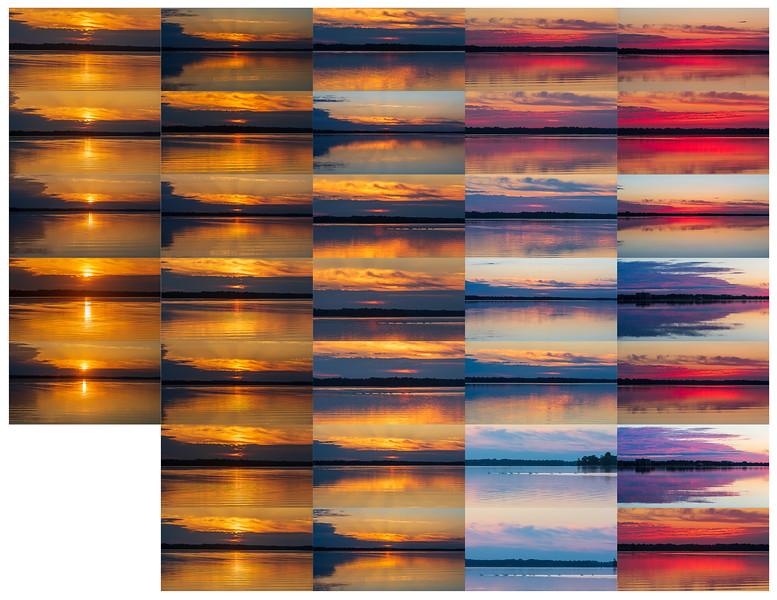 Contact sheet sunrise photos 2021 June 13