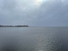 Bay of Quinte with light snow falling 2021 April 1