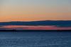 Purple skies below the clouds down the Bay of Quinte