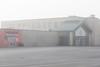 Foggy morning looking towards Bayveiw Mall entrance.
