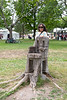 Denise Lantz by stump chair