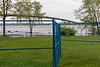 High water beyond the fencing
