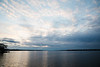 Sky before sunset looking up the Bay of Quinte.