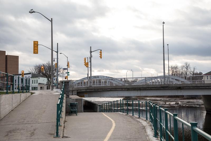 Pinnacle and Front Street bridges.