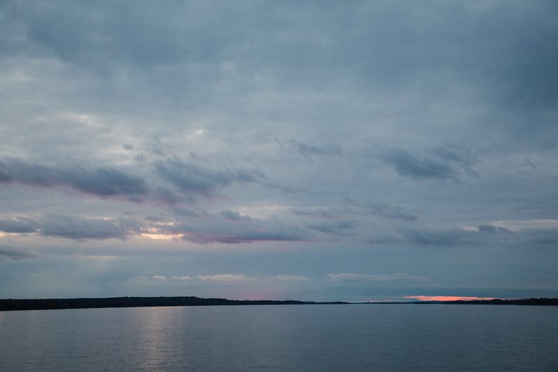 Sunset up the Bay of Quinte.
