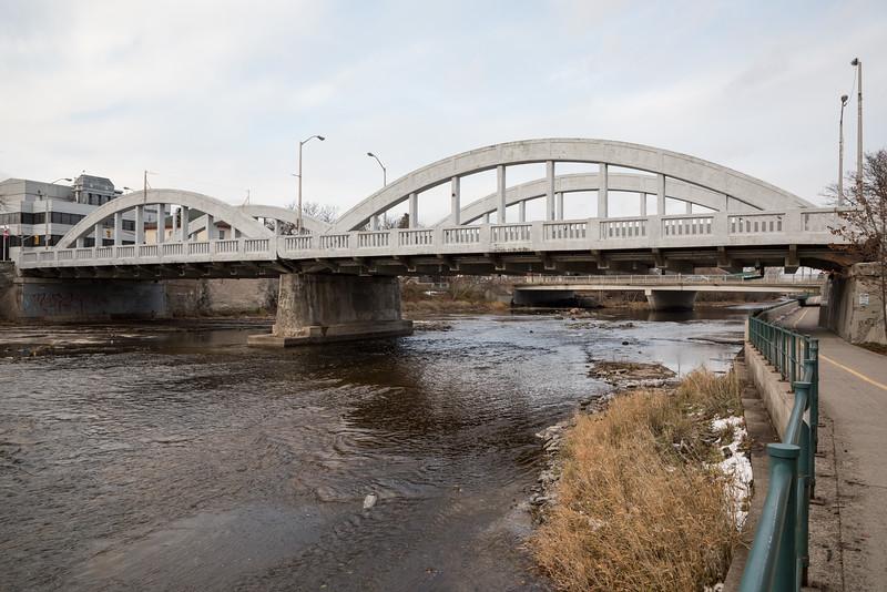 Front Street Bridge, Pinnacle Street bridge in distance.