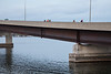 People fishing from the Norris Whitney Bridge.