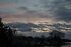 Sunset sky over Prince Edward County shoreline.
