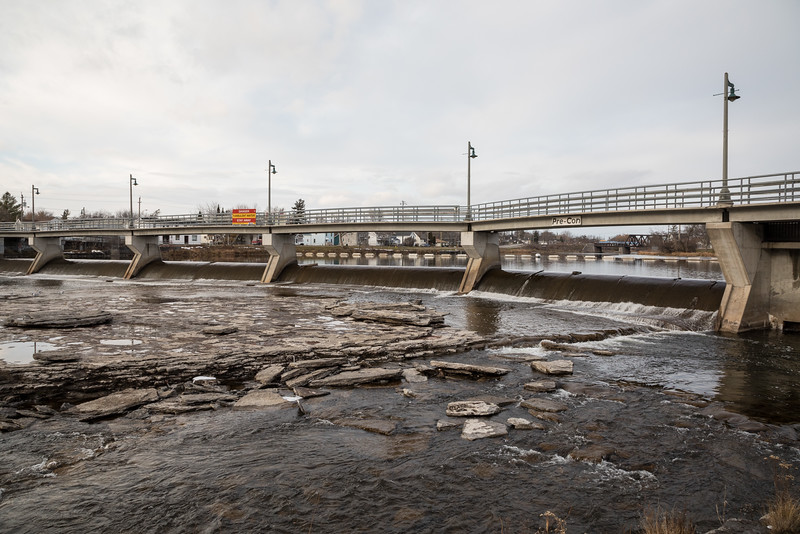 Lott Dam on the Moira River.