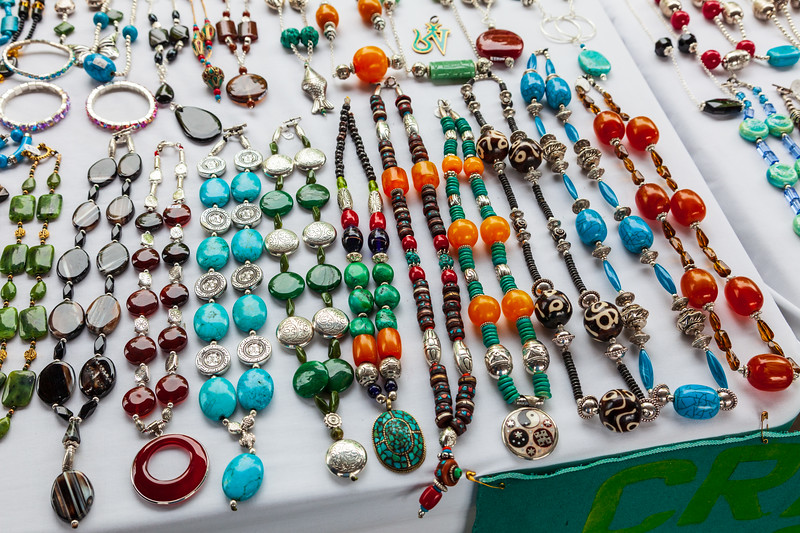 Jewellry for sale at Belleville Farmers' Market 2009 August 18