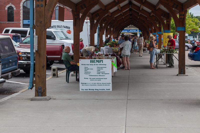 Belleville farmers' market 2009 August 18