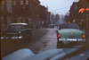 Looking east on Bridge Street from the intersection with Front Street 1955-Lloyd Lantz -white balance adjusted