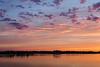 Clouds over Belleville shortly before sunrise.