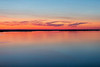 Wide view down the Bay of Quinte before sunrise from the Norris Whitney Bridge 2019 July 9