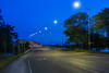 Norris Whitney Bridge before dawn from Rossmore. White balance off road markings