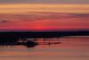 Cream, purple and pink skies over Meyers' Pier in Belleville Ontario before sunrise.