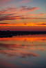 Where the sun will soon rise over the Bay of Quinte. Note that angled shadow reflected in the water.