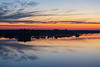 Belleville shoreline of the Bay of Quinte before sunrise.