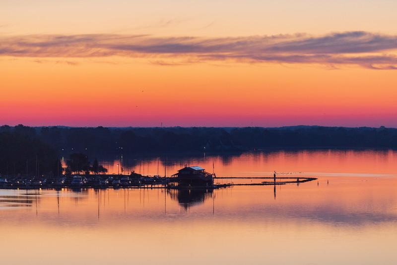 Meyers' Pier 40 minutes before sunrise.