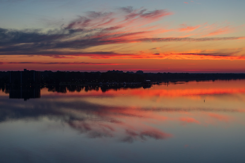 Belleville shoreline of the Bay of Quinte about 20 minutes before sunrise.