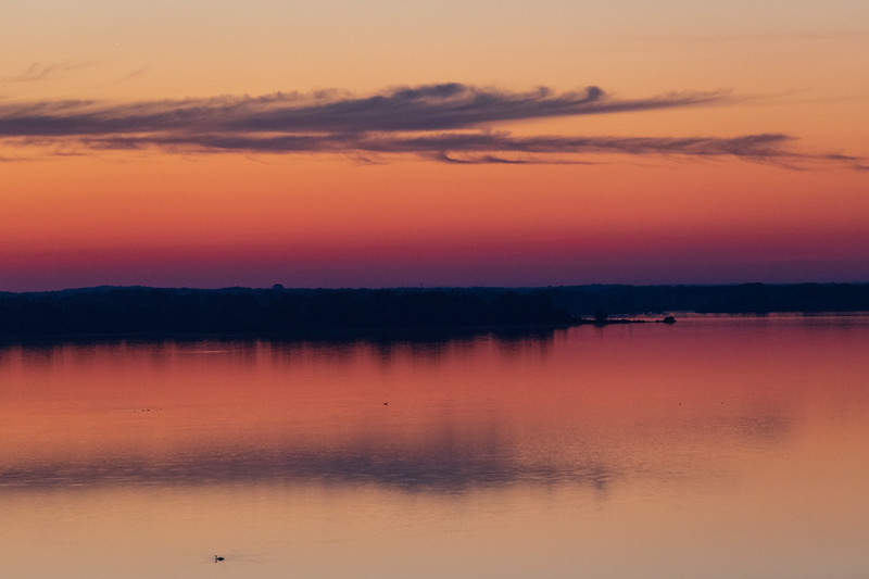 Looking down the Bay of Quinte about 35 minutes before sunrise 2019 June 28
