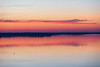 Clouds down the Bay of Quinte reflected in the water.