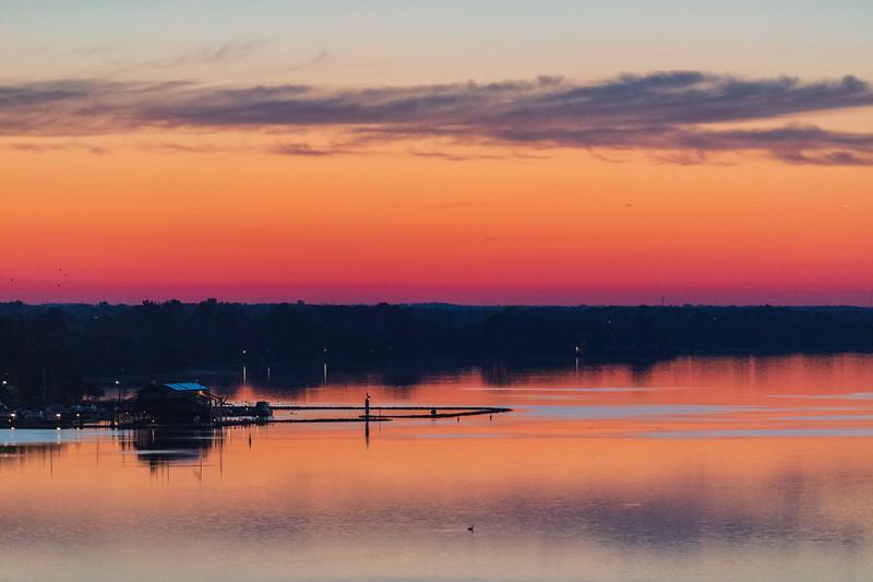 Meyers' Pier 45 minutes before sunrise.