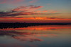 North shore of the Bay of Quinte at Belleville Ontario before sunrise 2019 June 28