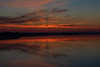 Shadow in the sky reflected in the Bay of Quinte before sunrise.