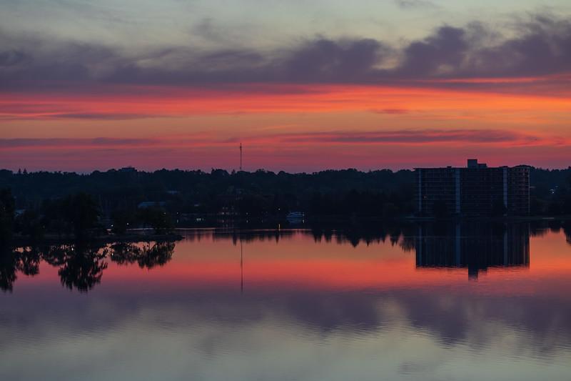 Belleville harbour a few minutes before sunrise.