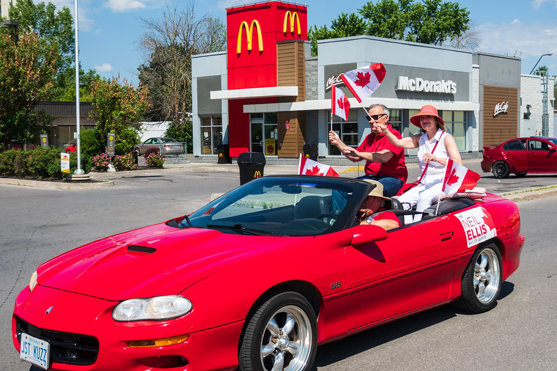 Belleville Chamber of Commerce Canada Day Procession 2020 July 1 Neil Ellis MP