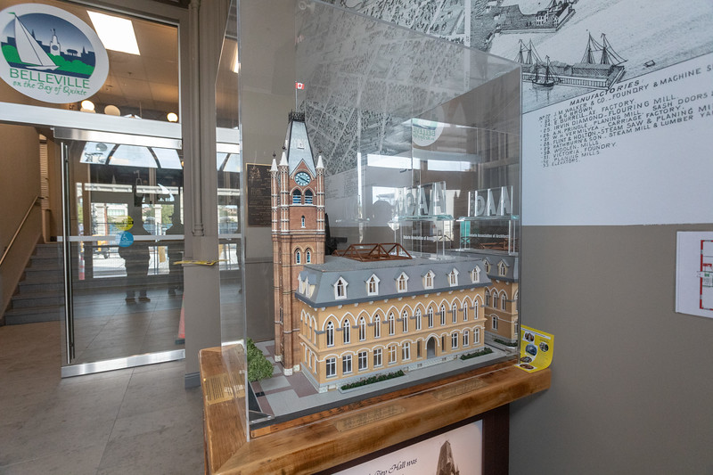 Belleville Ontario City Hall lobby with model