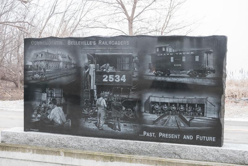 Belleville's Railroaders monument.