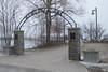 Memory Lne entrance arch.