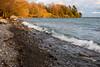 Waves along the Lake Ontario shoreline at Shingle Beach