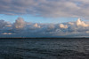 Clouds over wind turbines on Wolfe Island