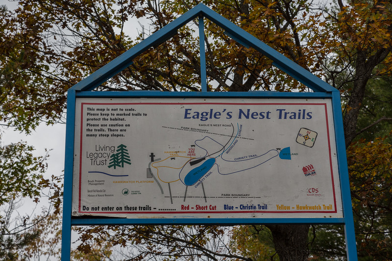 Eagle's Nest Trails in Bancroft, Ontario, Map.