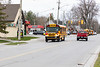 Parade of school buses in honour of healthcare workers and first responders organized by Parkhurst Transportation. 2020 April 29.