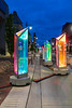 Prismatica - two meter high rotating prisms in downtown Belleville.