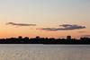 Buildings in Belleville at sunset.