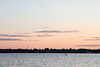 Looking across the Bay of Quinte towards the setting sun from Rossmore 2016 June 23rd.